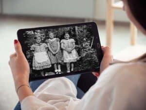tablet met foto