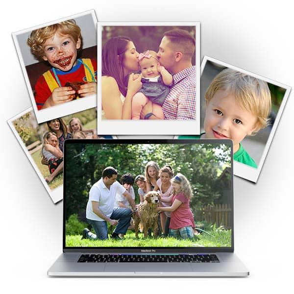 laptop en polaroid 2
